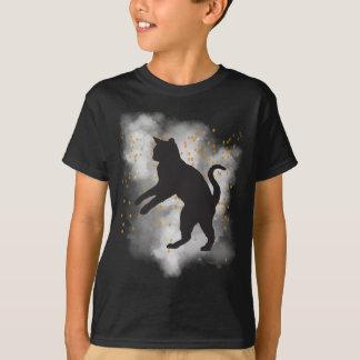 Camiseta T-shirt dos confetes da abóbora do gato preto