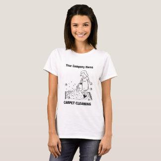 Camiseta T-shirt dos desenhos animados da limpeza do tapete