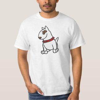 Camiseta T-shirt dos desenhos animados de bull terrier do