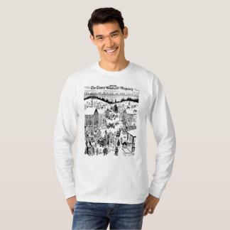 Camiseta T-shirt dos desenhos animados do inverno do jornal