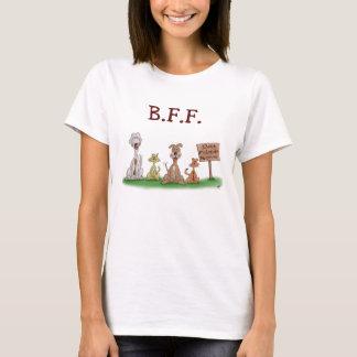 Camiseta T-shirt dos desenhos animados: Melhores amigos