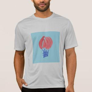 Camiseta T-shirt dos esportes dos homens do balão de ar
