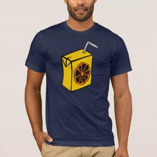 Camiseta T-shirt dos homens da caixa do sumo de laranja