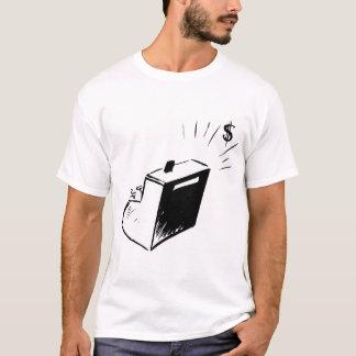 Camiseta T-shirt dos homens da caixa registadora