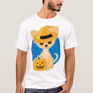 Camiseta T-shirt dos homens da chihuahua do Dia das Bruxas