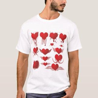 Camiseta T-shirt dos homens da coleção do coração