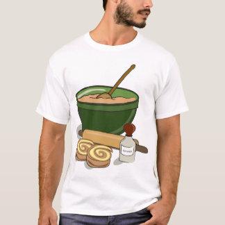 Camiseta T-shirt dos homens de Rolls da canela do cozimento