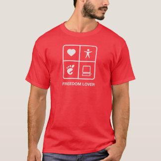 Camiseta T-shirt dos homens do amante da liberdade do GNOMO