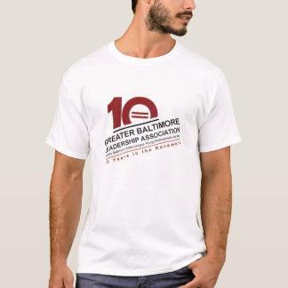 Camiseta T-shirt dos homens do aniversário de GBLA 10o