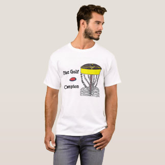 Camiseta T-shirt dos homens do campeão do golfe do disco