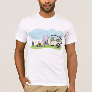 Camiseta T-shirt dos homens do campista do estilo do
