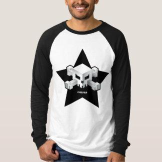 Camiseta T-shirt dos homens do crânio de Pixelfield