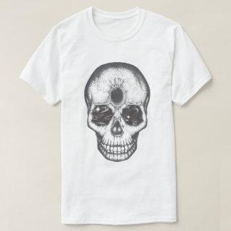 Camiseta T-shirt dos homens do crânio do trabalho do ponto