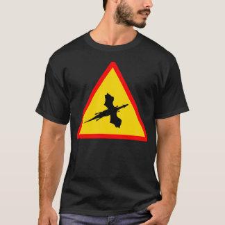 Camiseta T-shirt dos homens do dragão do perigo do sinal