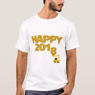 Camiseta T-shirt dos homens do feliz ano novo 2018