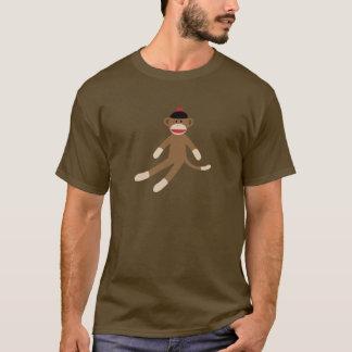 Camiseta t-shirt dos homens do macaco da peúga