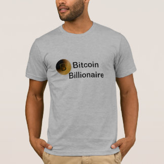 Camiseta T-shirt dos homens do multimilionário de Bitcoin