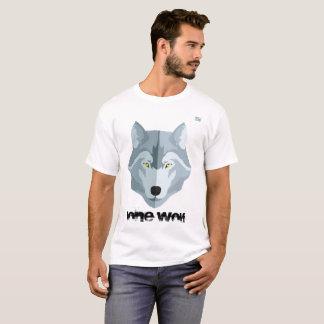 Camiseta T-shirt dos homens     - lobo solitário -