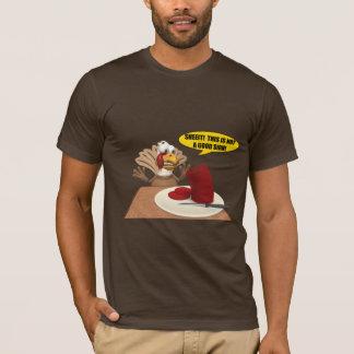 Camiseta T-shirt dos homens - sinais de Thankgiving