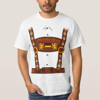 Camiseta T-shirt dos Lederhosen de Oktoberfest