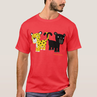 Camiseta T-shirt dos leopardos do amor