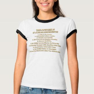 Camiseta T-shirt dos mandamentos da vaqueira 10
