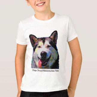 """Camiseta T-shirt dos meninos do brilho """"Kiska"""" do Malamute"""