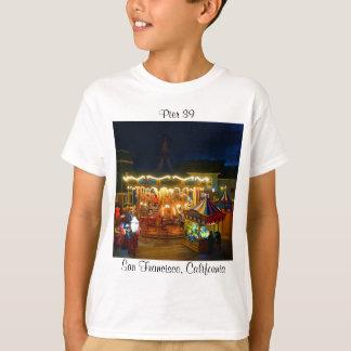 Camiseta T-shirt dos miúdos #2 do cais 39 do carrossel de