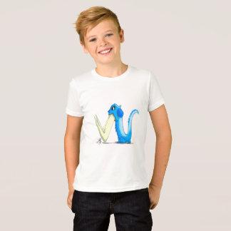 """Camiseta T-shirt dos miúdos com caráter do monstro de """"W"""""""