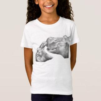 Camiseta T-shirt dos miúdos do hipopótamo & da vitela