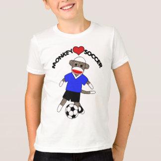 Camiseta T-shirt dos miúdos do macaco da peúga do futebol