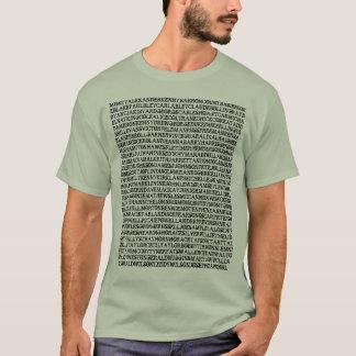 Camiseta T-shirt dos pianistas do jazz