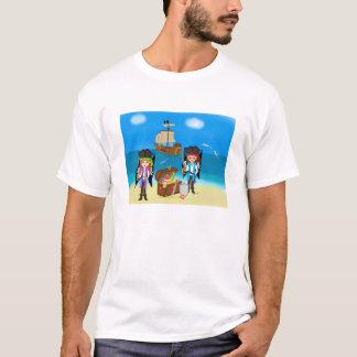 Camiseta T-shirt dos piratas e do tesouro