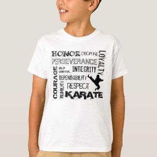 Camiseta T-shirt dos princípios do cinturão negro do karaté
