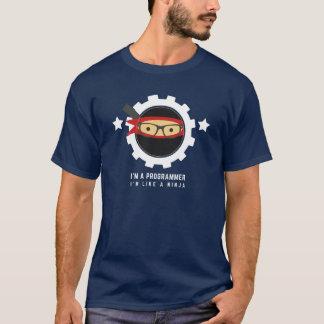 Camiseta t-shirt dos programadores: eu sou um programador