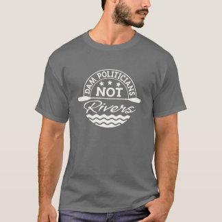 Camiseta T-shirt dos rios dos políticos da MAD NÃO