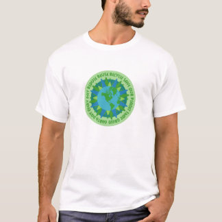 Camiseta T-shirt dos slogan do Dia da Terra