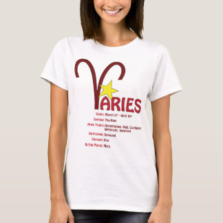 Camiseta T-shirt dos traços do Aries