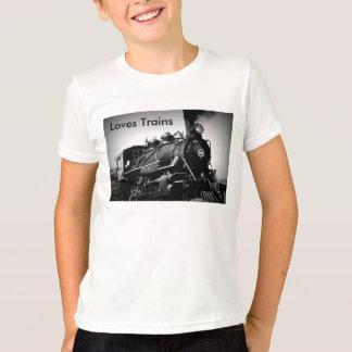 Camiseta T-shirt dos trens dos amores