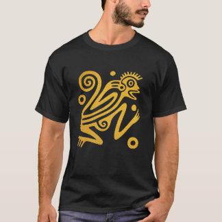 Camiseta T-shirt dourado da arte do macaco do estilo