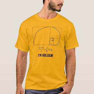 Camiseta T-shirt dourado da relação
