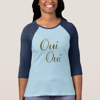 Camiseta T-shirt dourado de France do francês do oui anca