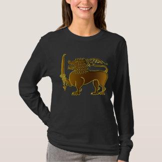 Camiseta T-shirt dourado de Sri Lanka do leão