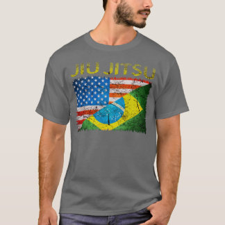 Camiseta T-shirt duplo das bandeiras de Jiu Jitsu do