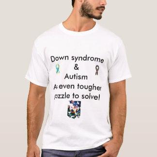 Camiseta T-shirt duplo de Dx para baixo do syndome & do