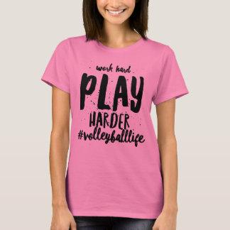 Camiseta T-shirt duro do voleibol do trabalho