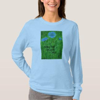 Camiseta T-shirt e esperança do Cornflower para um ALS do ~