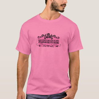 Camiseta T-shirt e presentes da avó da placa de