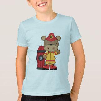 Camiseta T-shirt e presentes do urso e do sapador-bombeiro