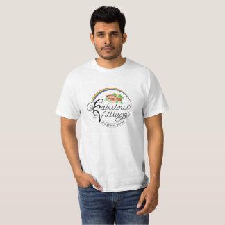 Camiseta T-shirt ecológico do logotipo do recurso da vila